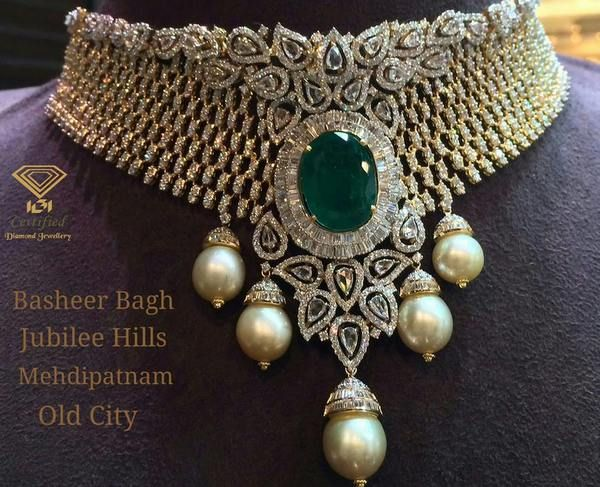 Jewellery Designs: Diamond Sets by PSJ