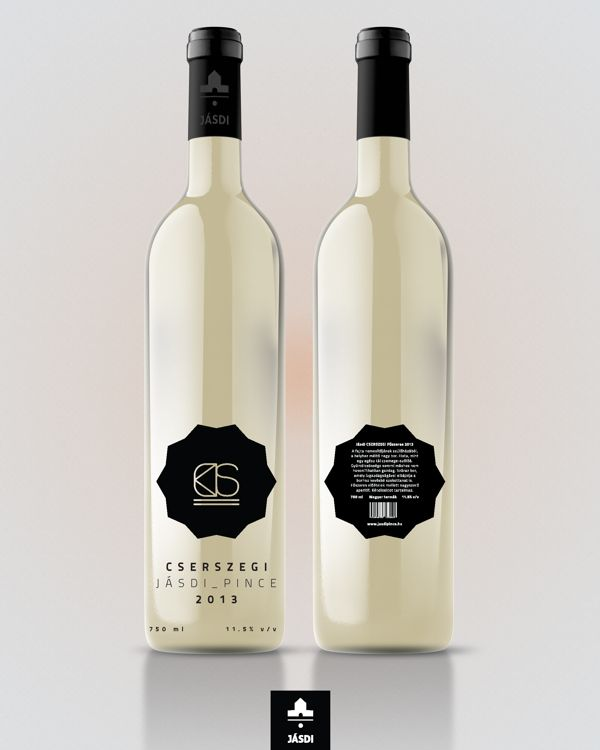 Label design for 'Jásdi' wines by Norbert Mayer