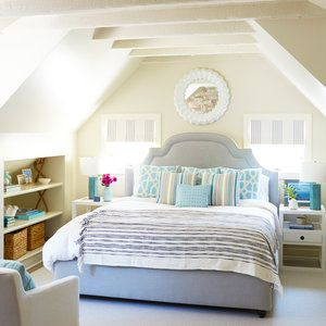Blue-and-White Master Bedroom