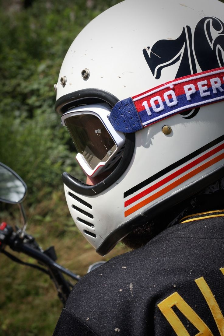 Bell Racing Helmets >> Vintage Bell Moto 3 Helmet with 100% Barstow goggle ...