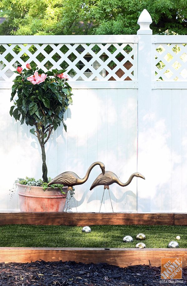 There's nothing more to love than bocce ball and metallic flamingos! See how to complete the look from Kristin Jackson of The Hunted Interior. || @huntedinterior
