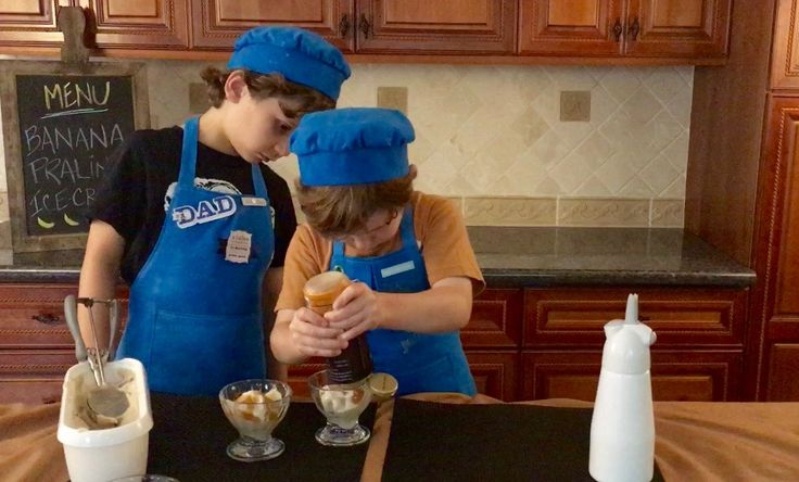 Banana Praline Ice Cream | Easy Kid Friendly Recipe | Kids in the Kitchen    Hard at work - kids in the kitchen! Let kids cook