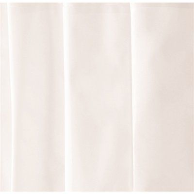 Moda at Home Crown X23 71-in x 71-in Solid White EVA/PEVA Shower Curtain Liner
