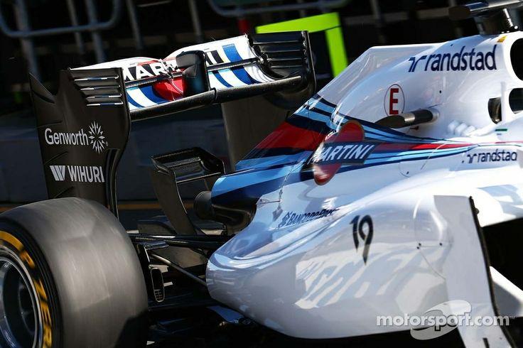 Felipe Massa, Williams FW36 rear wing.