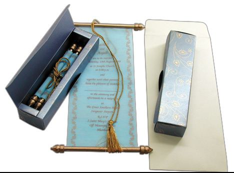 scroll invitations for weddings engagements birthdays bar mitzvahs bat mitzvahs - Wedding Scroll Invitations