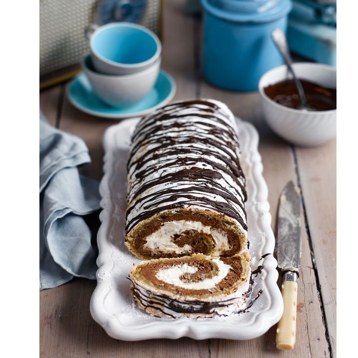 Nutty meringue wrapped around a decadent chocolate mousse filling - this is set to become a firm family favourite.