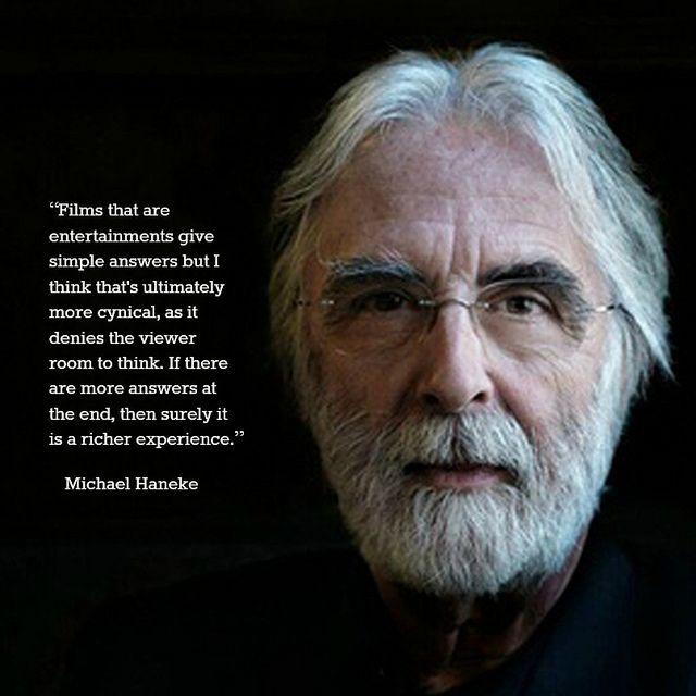 Film Director quote -Michael Haneke - Movie Director Quote #michaelhaneke
