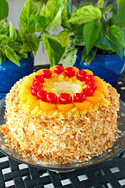 Ambrosia Angel Food Cake from LoveandConfections.com with @dixiecrystals