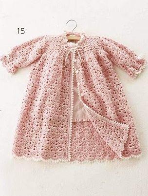 Baby Dress free crochet pattern.