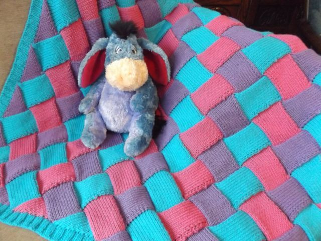 Hand Knitted Baby Blanket knitted in Stylecraft Classique Cotton   eBay