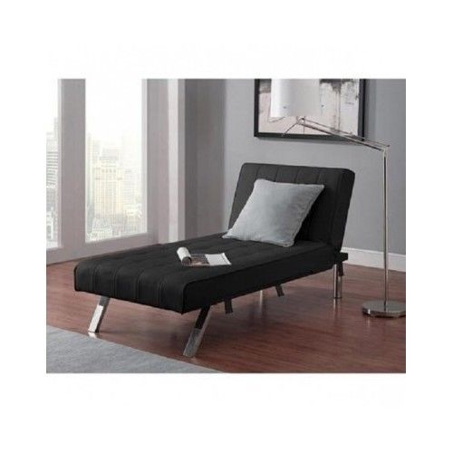Chaise lounge accent chair to futon sleeper faux leather for Accent chaise lounge