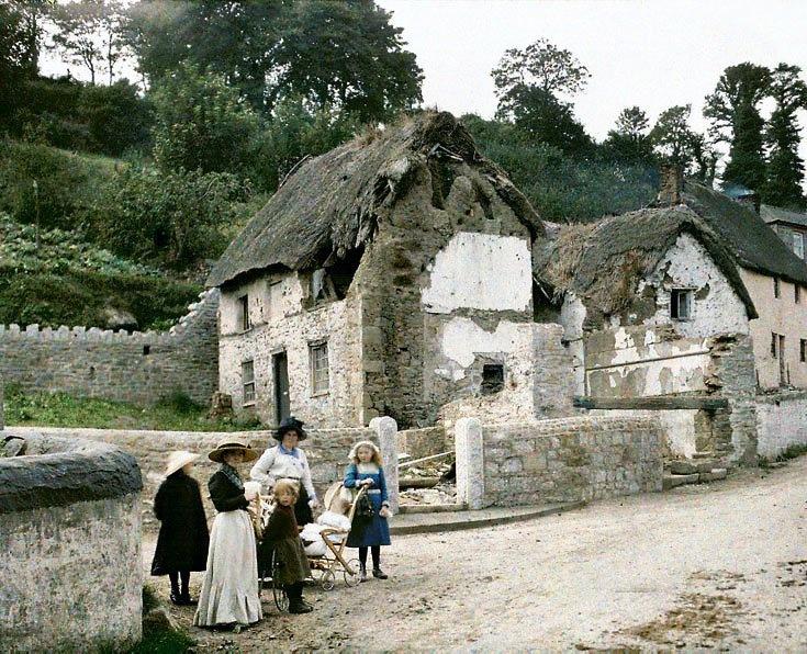 color photograph of Cornwall, England 1913