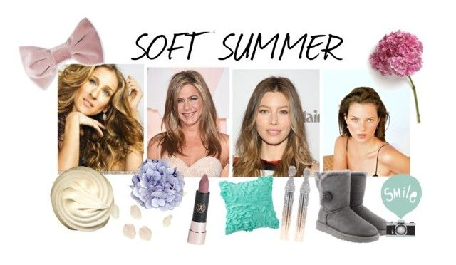 """soft summer"" by stylist-vera on Polyvore featuring Sarah Jessica Parker, UGG, Seventy Tree, Anastasia Beverly Hills, PBteen, Forever 21 and Oscar de la Renta"