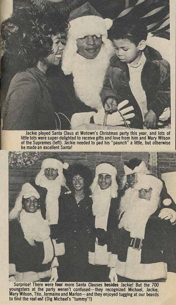 he Supremes' Mary Wilson & the Jackson 5 — Dec. 23, 1971, L.A. — Motown party that delivered presents to 700 underprivileged children.