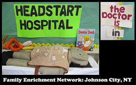 photo of: Headstart Hospital for Extending Pretend Play in Young Children, The Doctor is IN