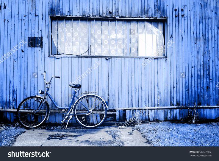 Bicycle In Blue Stock Photo 517605922 : Shutterstock