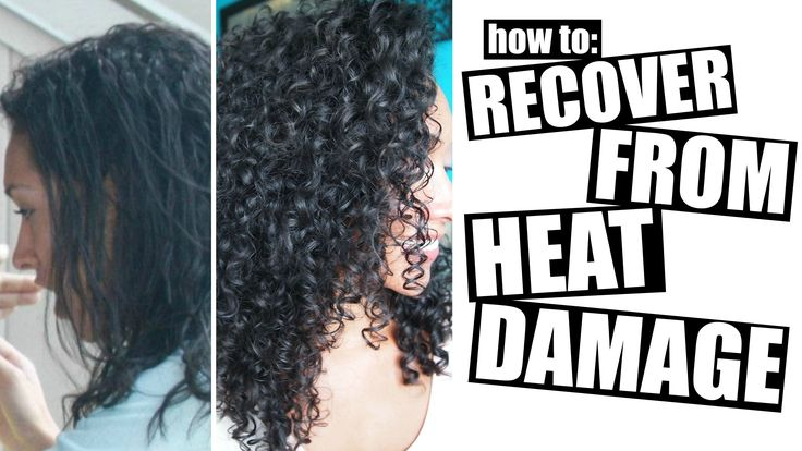 How To Recover From Heat Damage To Healthy Curly Hair - YouTube