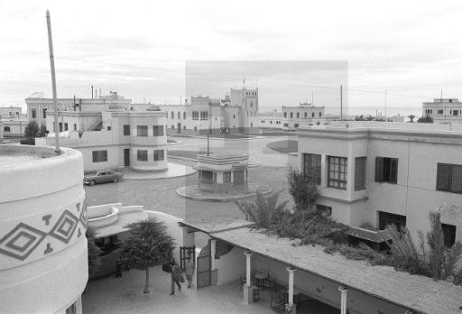 Sidi Ifni.- Vista de la Plaza de España.- (Sin fecha, 1957-58) EFE/jt