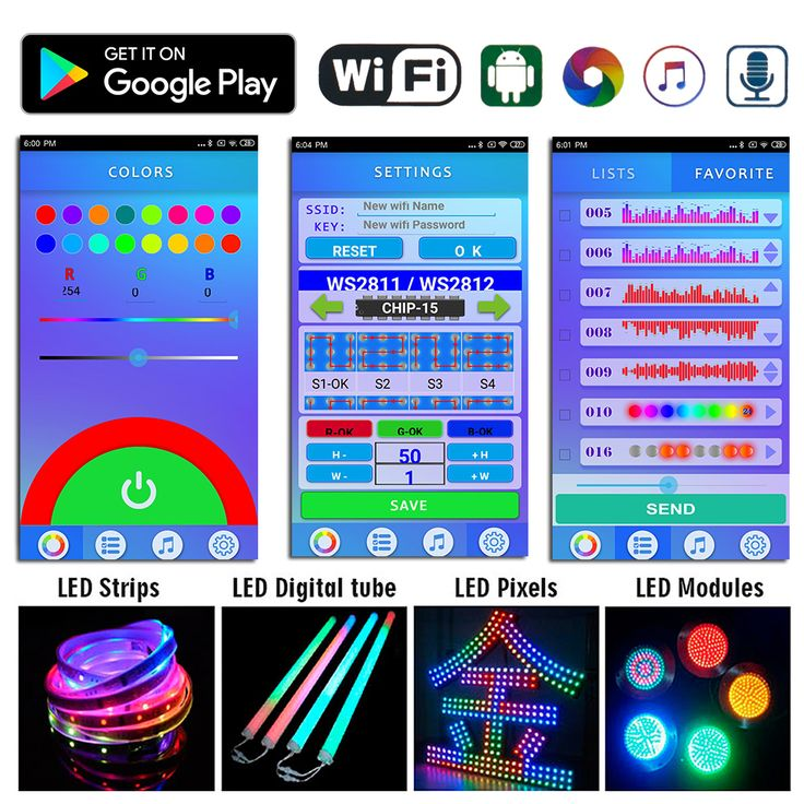 DC524V, 2019 Newest LED WIFI SPI Music Spectrum Android