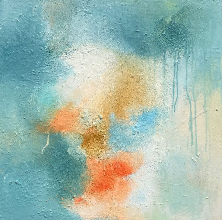 Abstrakt maleri. Akryl på lærred.