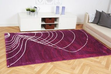 Moderner Teppich Wellen aus der Inspiration Kollektion ist ein Gemälde für Ihren Fußboden und wirkt besonders in Ihrem Wohnraum stilvoll und ausgefallen
