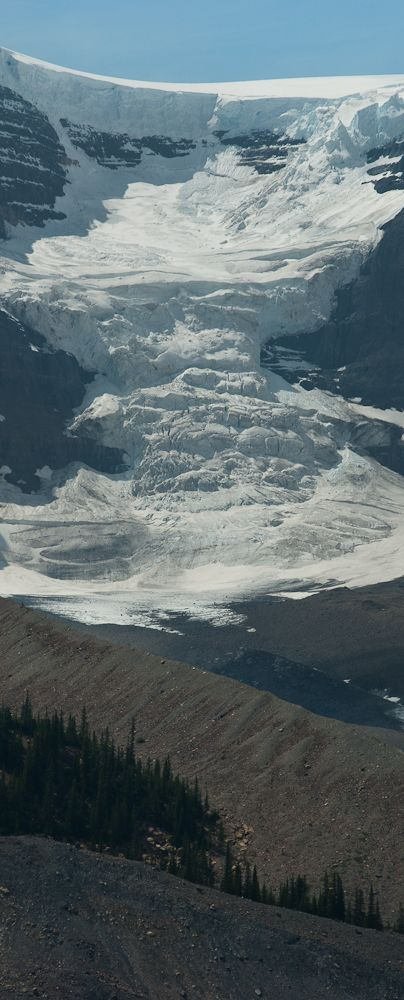 Columbia Icefields inside Jasper National Park (next to Banff National Park) is the largest ice mass in North America.