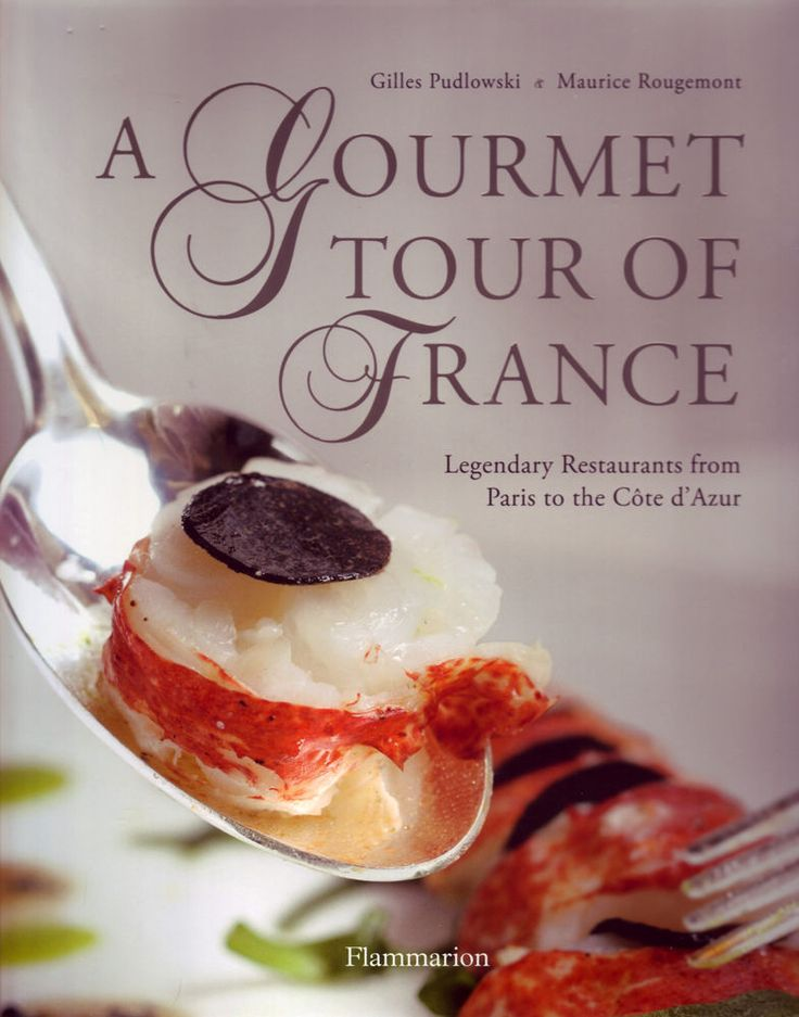 A Gourmet Tour Of France |  Prominent restaurant critic Gilles Pudlowski leads the reader on a gourmet tour of France, sharing menu selections from his favorite restaurants along with the stories behind the accomplished chefs and their kitchens
