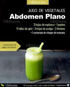 JUGO DE VEGETALES PARA TENER EL ABDOMEN PLANO, con receta