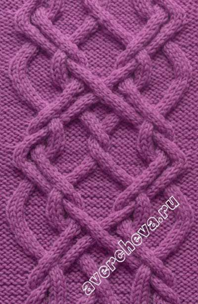 Cable pattern: 52 stitches, 38 row repeat - узор спицами 673