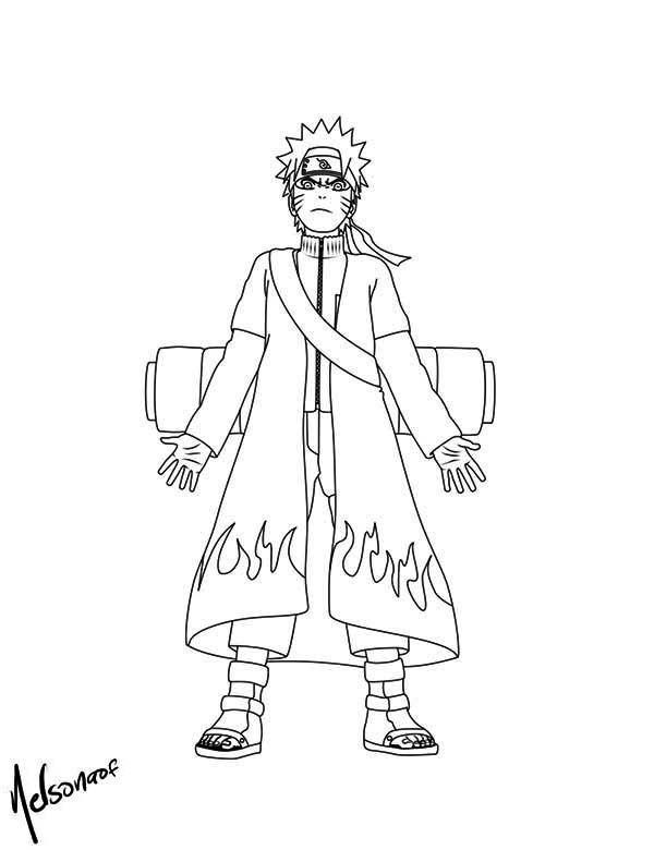 naruto with cool fire robe malvorlagen  onlinemalvorlage