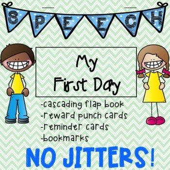 Back to School! First Day in Speech Therapy Flap Book + extras