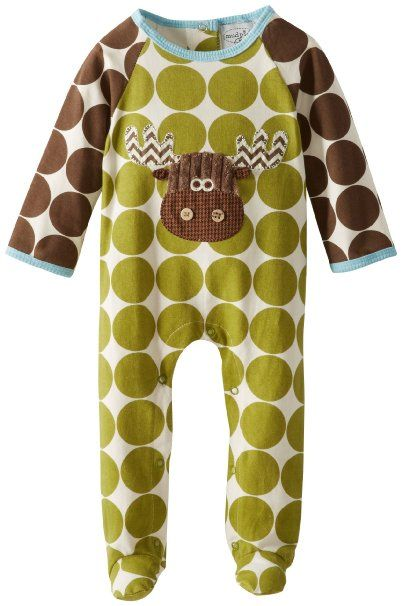 Amazon Com Mud Pie Baby Boys Newborn Moose Footed One
