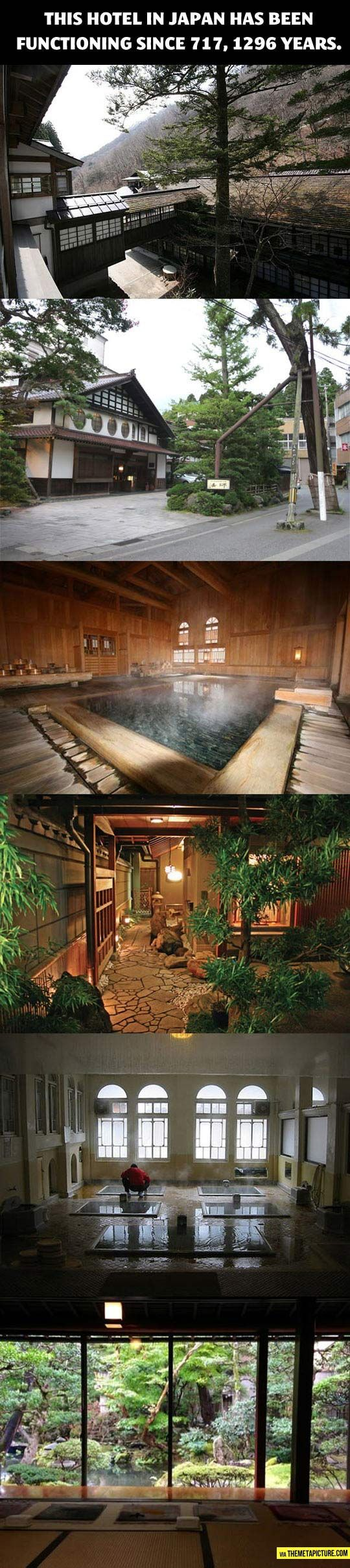 Hoshi Ryokan in Komatsu, Ishikawa, Japan: A hotel that has been functioning for 1296 years... I so so want to see this one day!!♡♡♡
