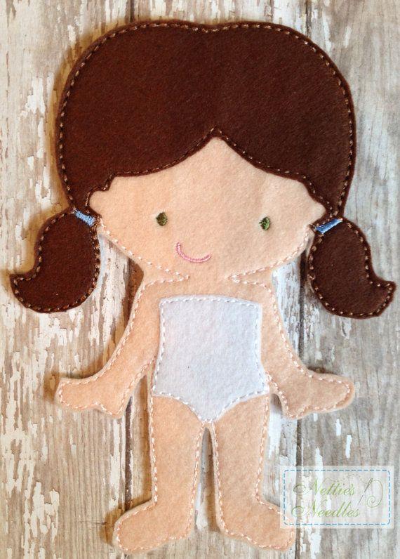 Felt Un Paper Audrey Doll by NettiesNeedlesToo on Etsy, $6.00