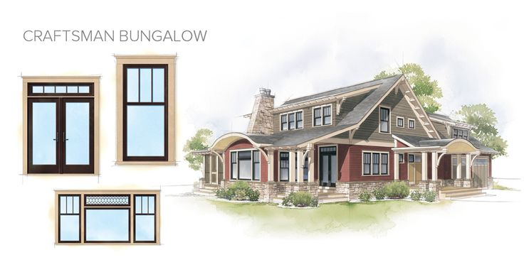 Craftsman bungalow home style window door overview barn for Windows for craftsman style homes