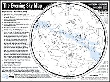 Download evening sky maps each month for free! Each 2-page guide helps to identify planets, stars, and major constellations.