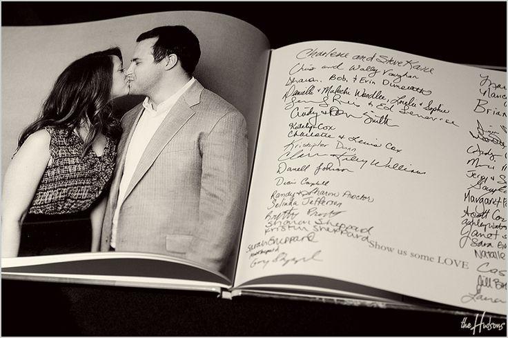 Engagement photo guest book. great idea!!!