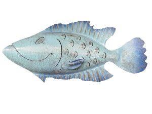 Hurricane Floyd Iron Fish Sculpture-Chase Allen's Handcrafted Coastal Decor