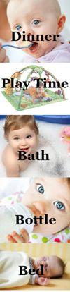 Establishing bedtime routines as part of baby sleep training
