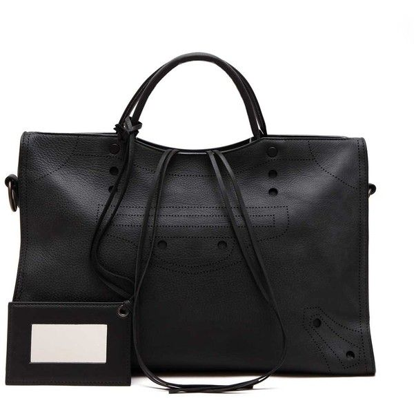 BALENCIAGA 'Black out city' tote bag (18 770 SEK) ❤ liked on Polyvore featuring bags, handbags, tote bags, balenciaga purse, city tote, balenciaga handbags, balenciaga tote and balenciaga tote bag