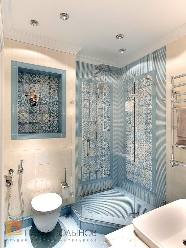 Фото дизайн санузла из проекта «Дизайн 4-комнатной квартиры 162 кв.м. в ЖК «Платинум», стиль неоклассика»