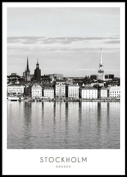 Poster med Stockholm.