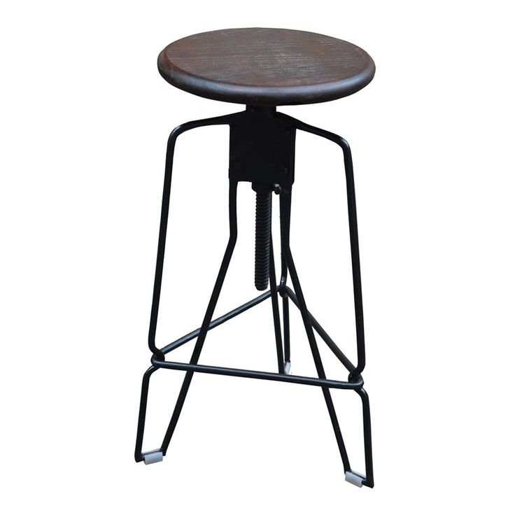 Shop Worldwide Home Furnishings  203-967WAL Industrial Adjustable Height Swivel Bar Stool at Lowe's Canada. Find our selection of bar stools at the lowest price guaranteed with price match   10% off.