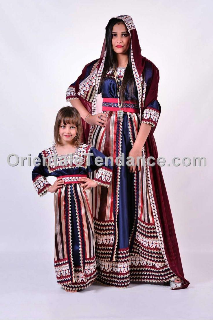 Robe Kabyle fillete en ligne Robe, Robe kabyle moderne