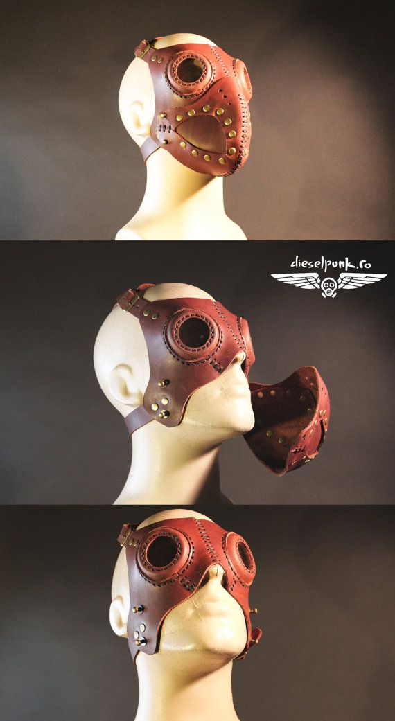 Buy Now STEAMPUNK MASK leather Halloween apocalypse gear LARP cosplay cybergoth…