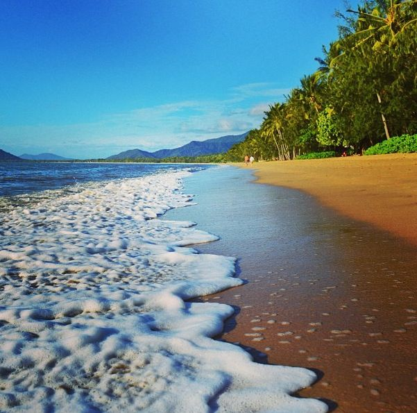 A stroll along the beach at Palm Cove Cairns. #PalmCove