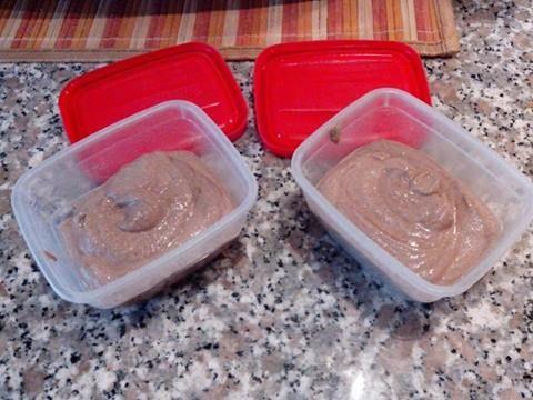 spuntini per i 2gg in f2 Tofu silk frullato con cacao amaro, cannella . Un panetto da 250 gr. basta per 4 spuntini