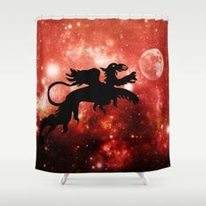 Free Worldwide Shipping on Everything + 20% Off Everything    PLEASE USE THIS LINK:  https://society6.com/pirminnohr?promo=744Z2ZQ2XVTT    Promotion expires April 9, 2017 at Midnight Pacific Time.    Dragon's moon Shower Curtain