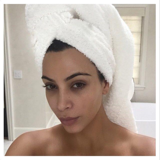 Celebrities Without Makeup: Instagram Selfies: Kim Kardashian West
