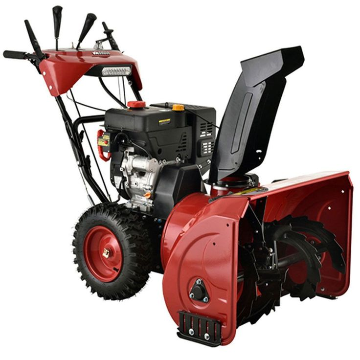 Amico Power Deluxe 28-inch 252cc Two-Stage E-Start Gas Snow Blower/Thrower With Heated Grips (Snow Blower), Grey metal